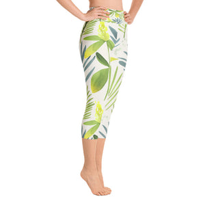 Spring Leaf Capri Leggings