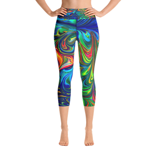 Marble Time Capri Leggings