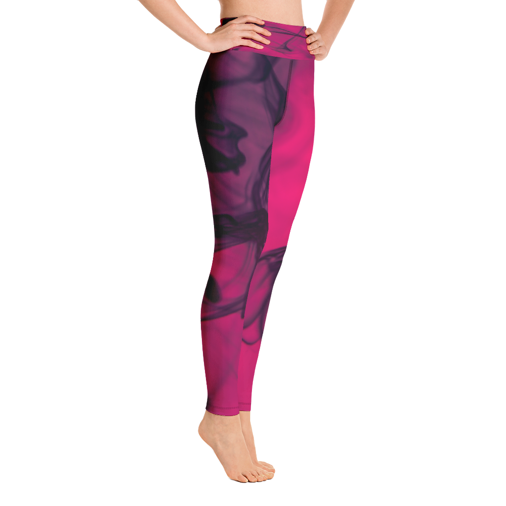 Hot Pink Marble Leggings