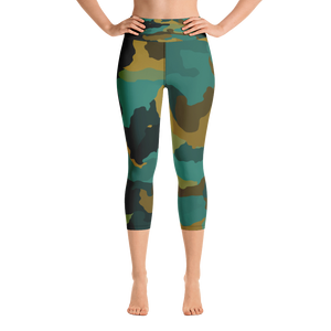 Rain Forest Camo Capri Leggings