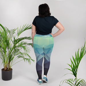Aqua Print Plus Size Leggings