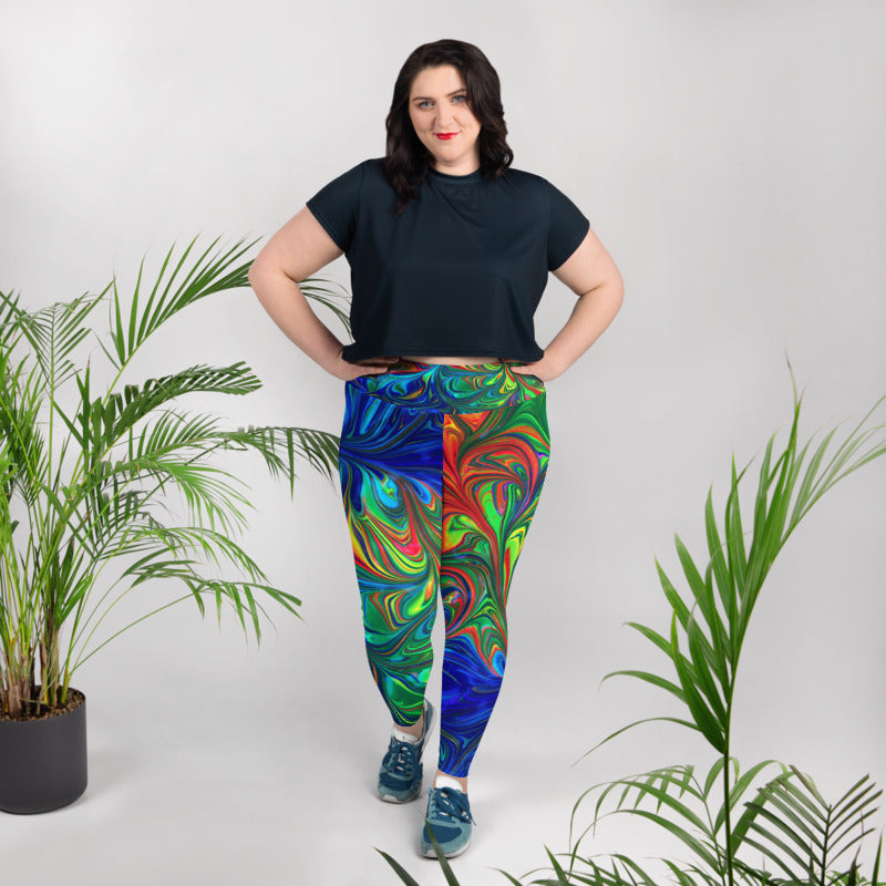 Marble Tims Plus Size Leggings