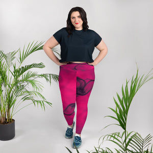 Hot Pink Plus Size Leggings