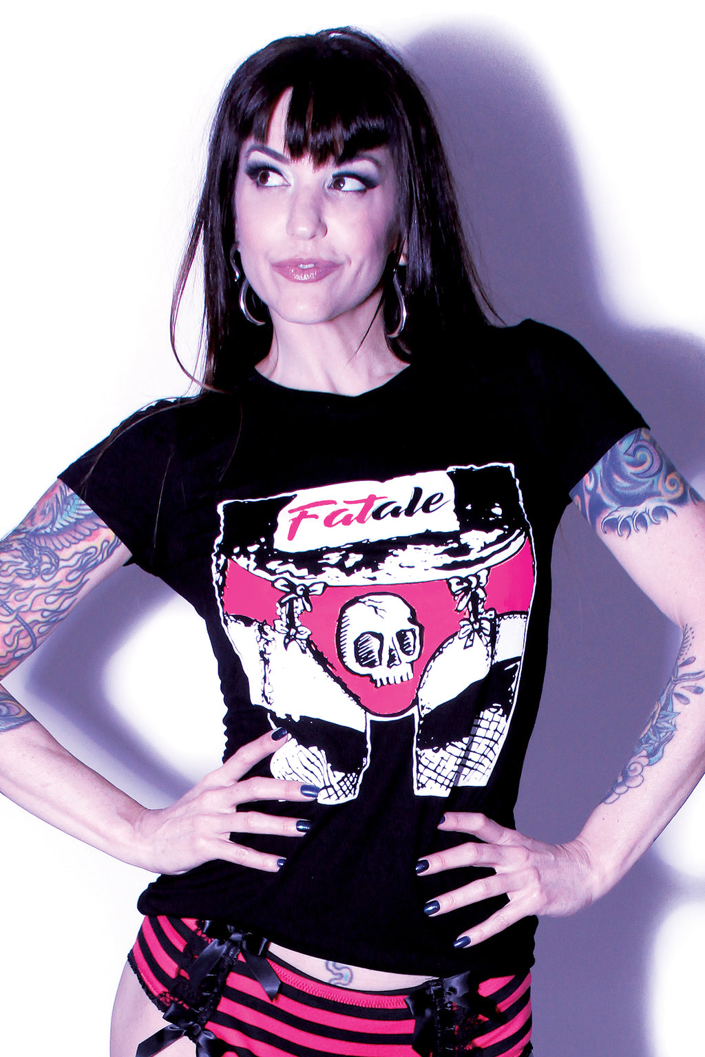 Womens Fatale Logo Shirt Black