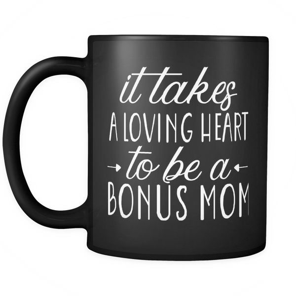 It Takes A Loving Heart 11oz Black Mug