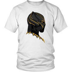 Black Panther Gold Mask Unisex Tshirt
