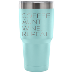 Coffee Aunt Repeat Laser Etched Tumbler