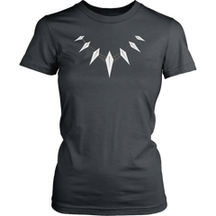 Black Panther Claw Necklace Ladies Tee