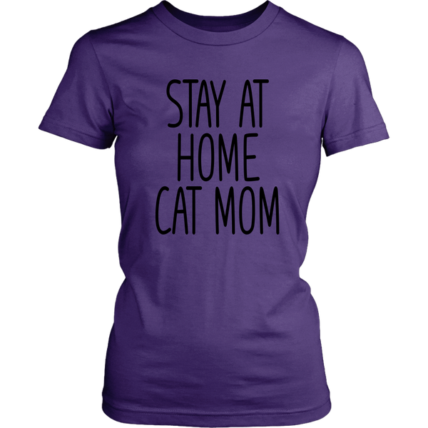 Stay At Home Cat Mom Tees