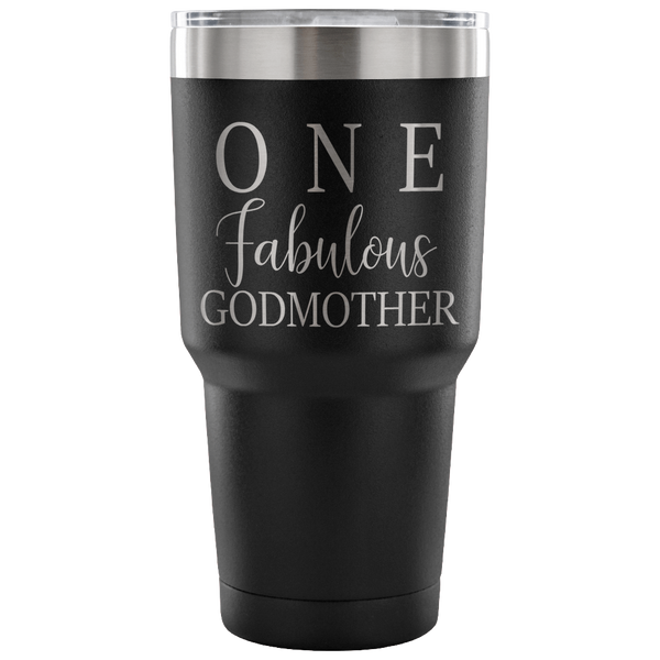One Fabulous Godmother Laser Etched Tumbler