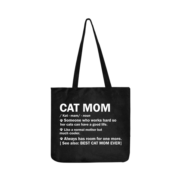 Cat Mom Definition Reusable Shopping Bag