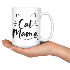 Cat Mama 15oz White Mug