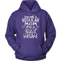 I'm Not A Regular Mom I'm A Cat Mom Hoodie