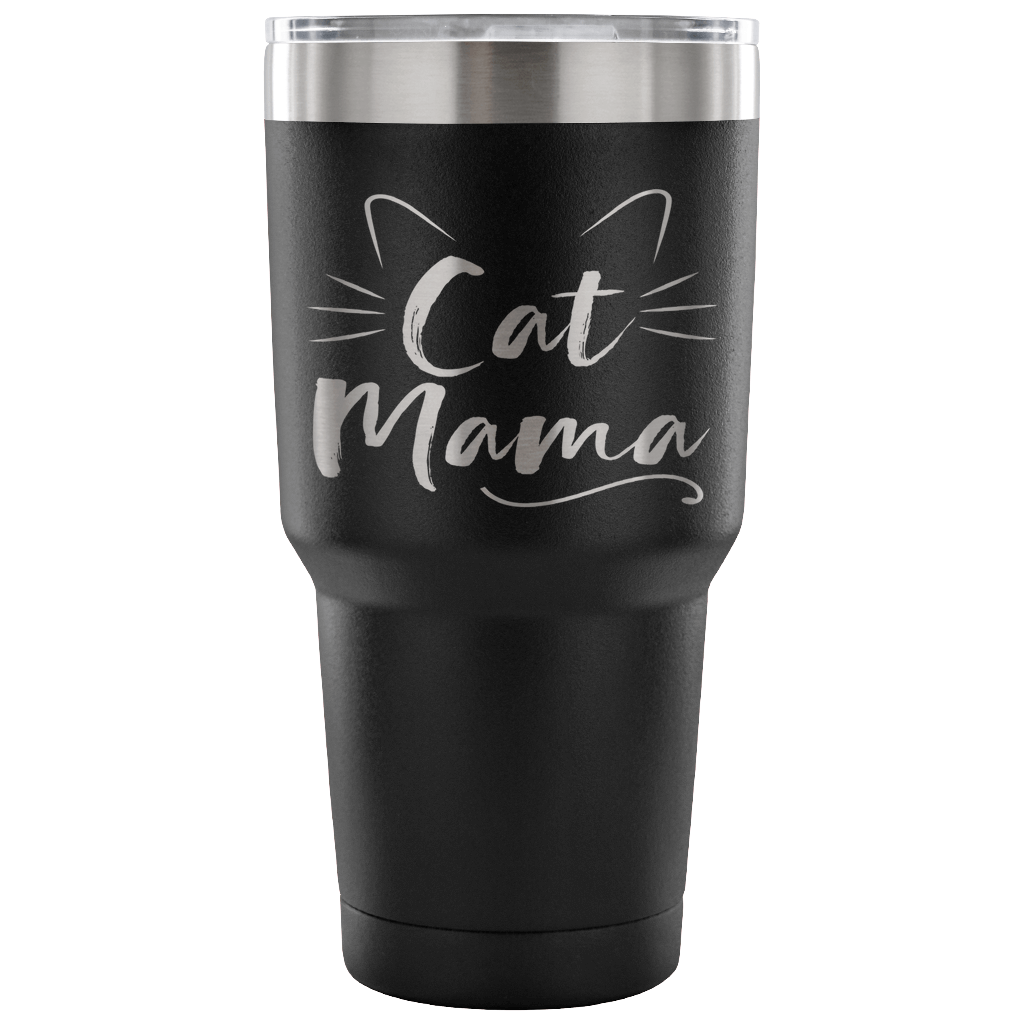 Cat Mama Laser Etched Tumbler