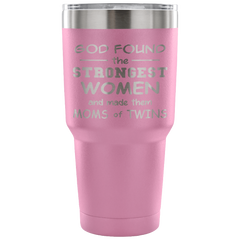 God Found the Strongest Women Laser Etched Tumbler