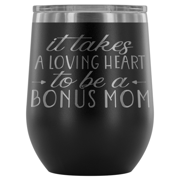 It Takes A Loving Heart Stemless Wine Tumbler