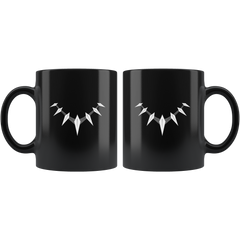 Black Panther Claw Necklace 11 oz Black Mug