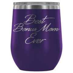 Best Bonus Mom Ever Stemless Wine Tumbler