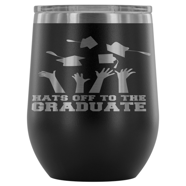 Hats Off To The Graduates Stemless Wine Tumbler