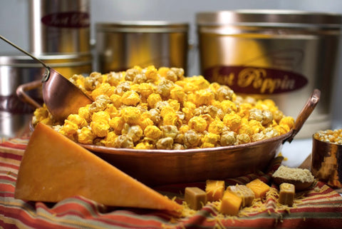 Our famous caramel and cheese gourmet popcorn mix.