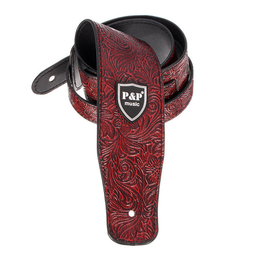 Leather Bordeaux Ukulele Strap