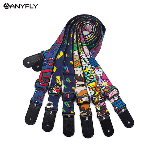 Cartoon Ukulele Strap 100% Cotton