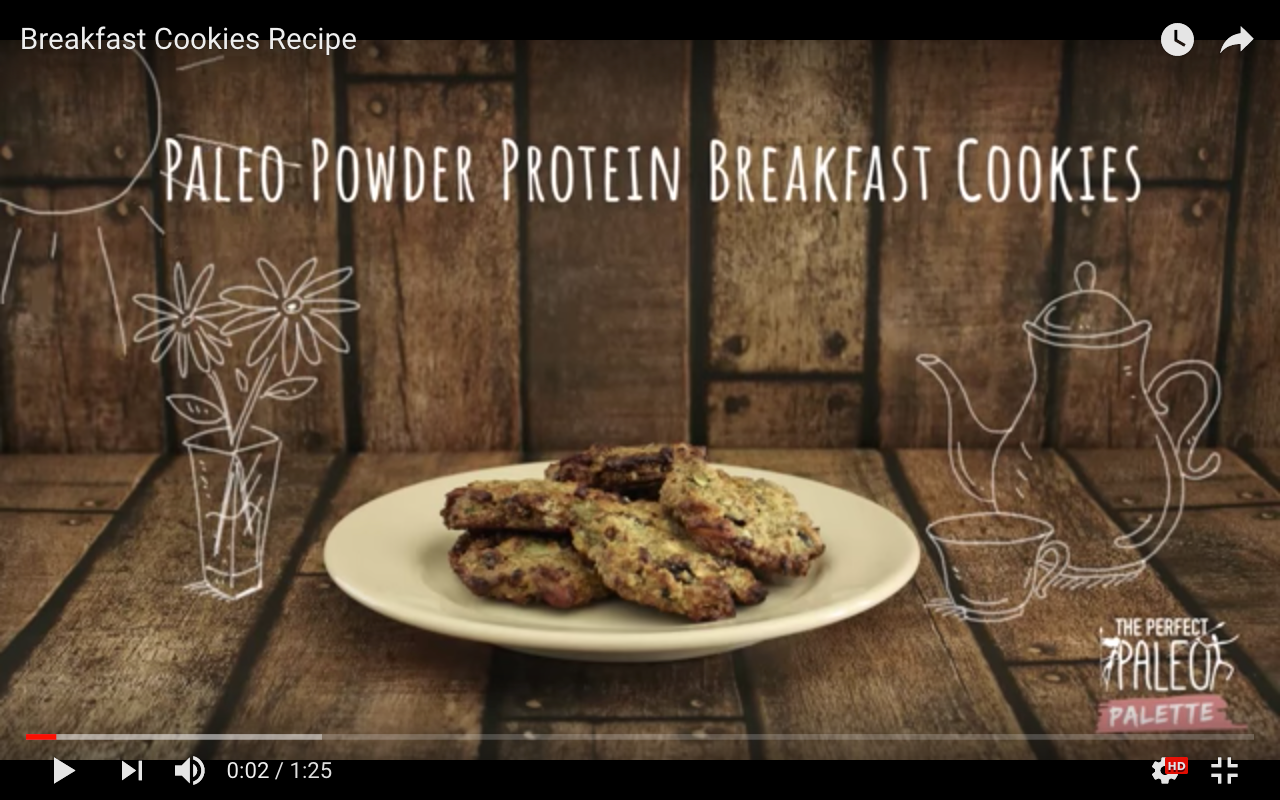 Paleo Cookies - Paleo Protein Breakfast Cookies Recipe - Paleo Powder Cookies