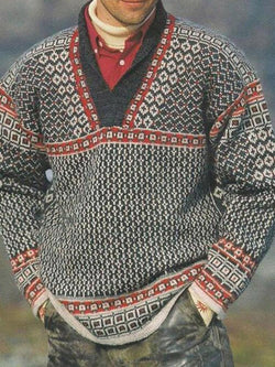 Geometric Standard European Winter Sweater