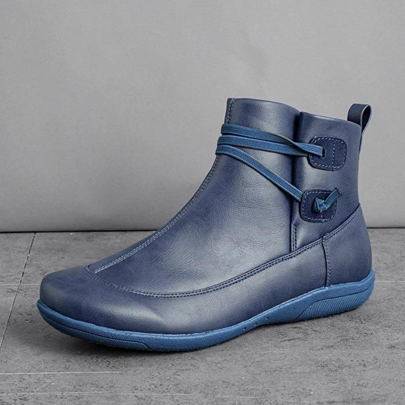 Round Toe Plain Slip-On Casual Casual Boots