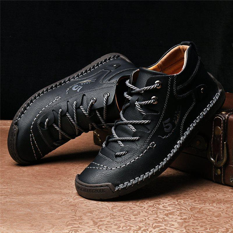 Low-Cut Upper Lace-Up Round Toe Thin Shoes