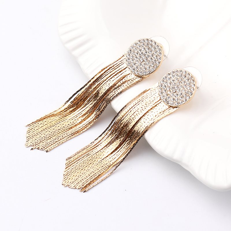 Alloy Diamante European Anniversary Earrings