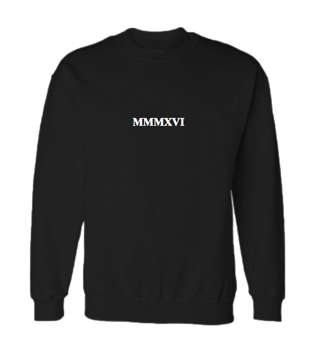 MMMXVI crew neck jumper (Hoodless)