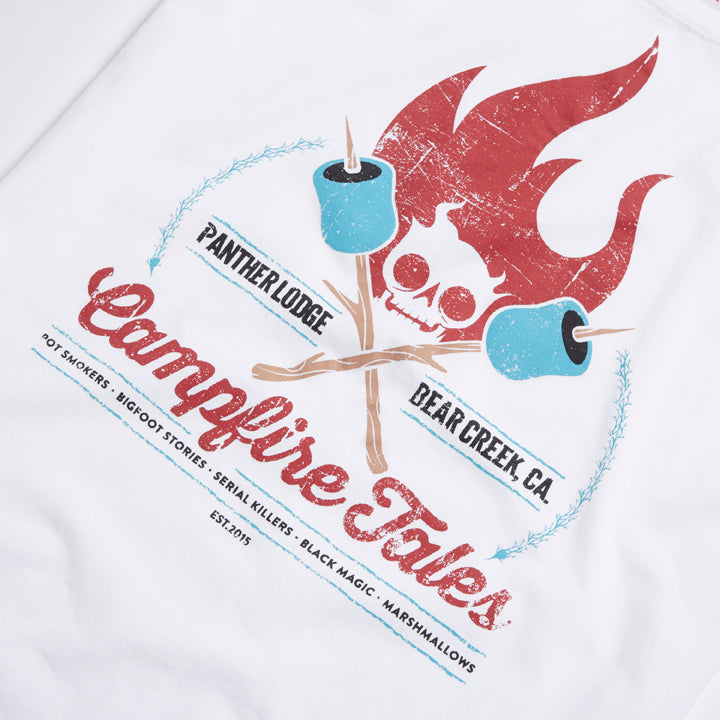 Campfire Tales Printed Tee - Slouch Girls Premium Crew Neck T-Shirt
