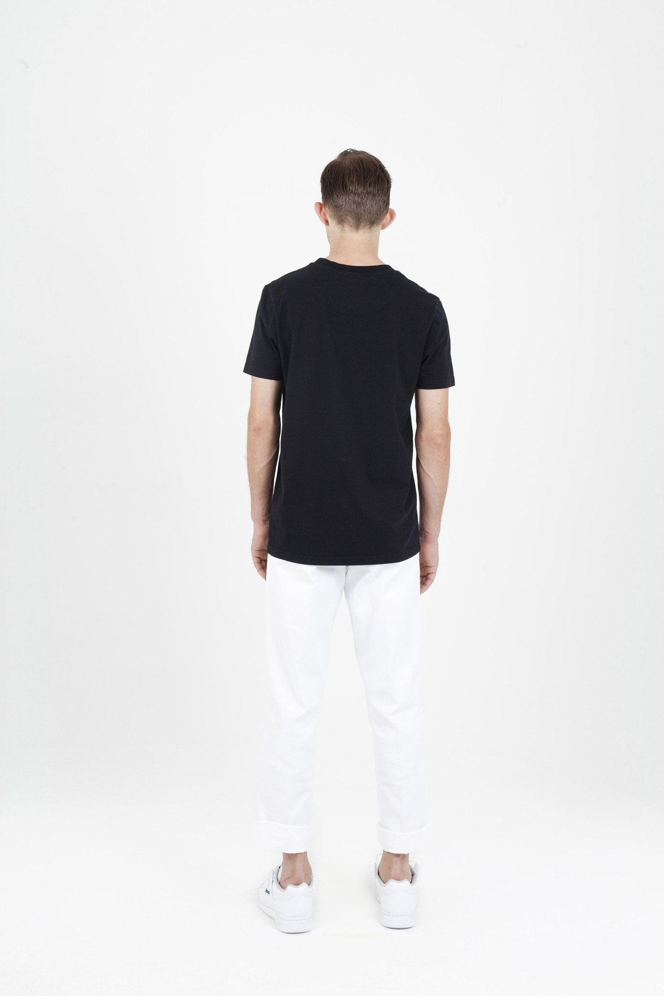 Low Profile Black Printed Tee - LA Inspired Crew Neck T-Shirt