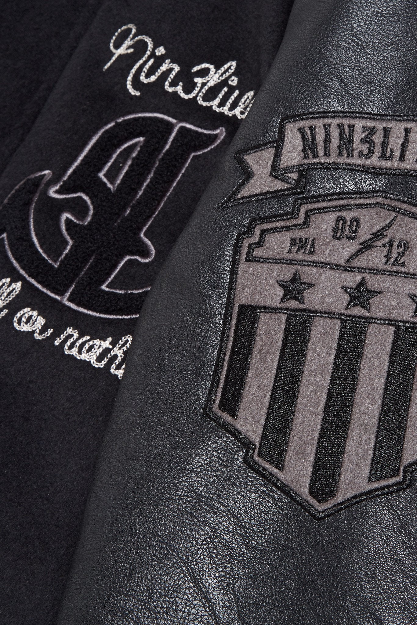 Black Varsity Jacket Mono - Limited edition Varsity Jacket Black