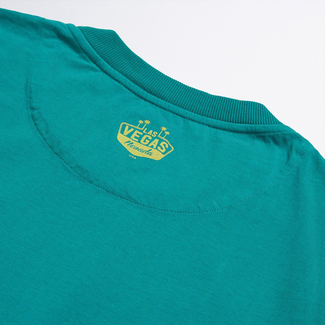 Green High Roller Printed Tee - LA Inspired Crew Neck Tee
