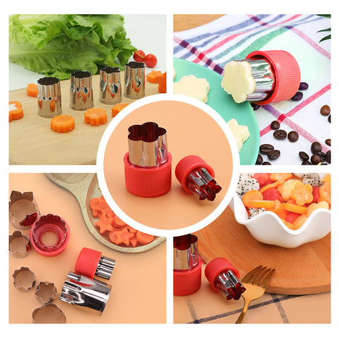 Eight Beautiful Flower Stainless Steel Cooky Cutters