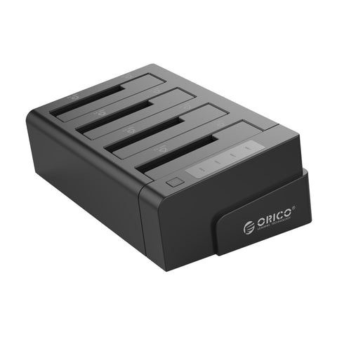 Orico 4 Bay USB3.0 to 2.5 / 3.5 HDD|SSD Clone Dock Black