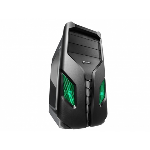 Raidmax Exo SE Window Green LED (GPU 370mm) ATX|Micro ATX|Mini ITX Chassis Black