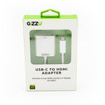 GIZZU USB-C to HDMI 4K Adapter White