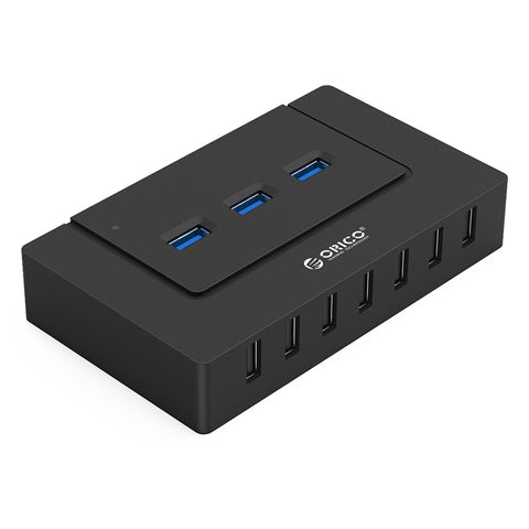 Orico 10 Port 7xUSB2.0 3xUSB3.0 Hub Black