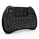 Reiie Wireless QWERTY Backlit Media Touchpad Keyboard Blac