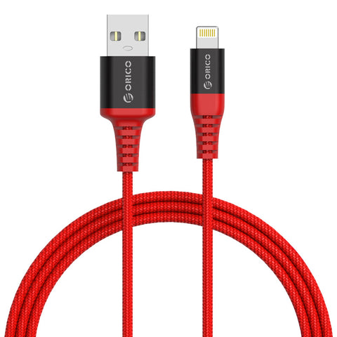 Orico Lightning 1m Aramid Braided Cable Red