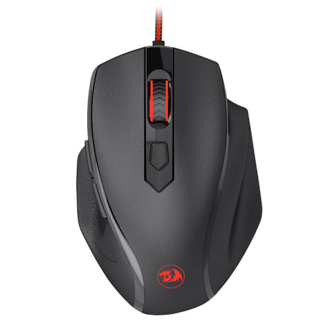 Redragon TIGER 2 3200DPI 6 Button|180cm Cable|Ergo-Design|Trendy Backlit|8 Weights|Gaming Mouse - Black