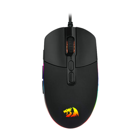Redragon INVADER 10000PI 8 Button|180cm Cable|Ambi-Design|RGB Backlit Gaming Mouse - Black