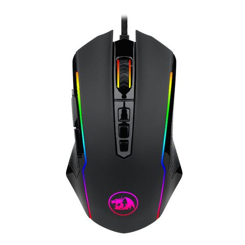 Redragon RANGER 12400PI 7 Button|180cm Cable|Ambi-Design|8 Weights|8 Backlit Modes Gaming Mouse - Black