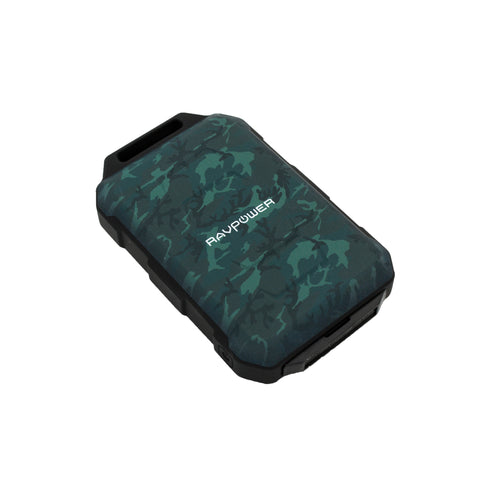 RAVPOWER 10050mAh 2x USB IP66 Waterproof Power Bank Camouflage