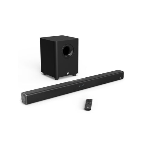 TAOTRONICS 2.1 BT 4.2 Sound Bar 2x20W and 80W for 34 With Subwoofer TV Black