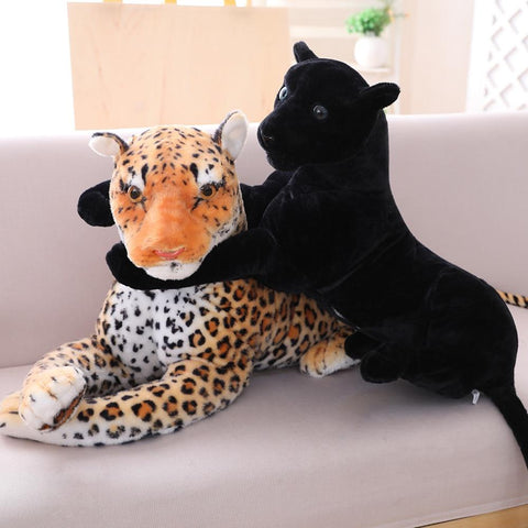 realistic stuffed animal leopard panther