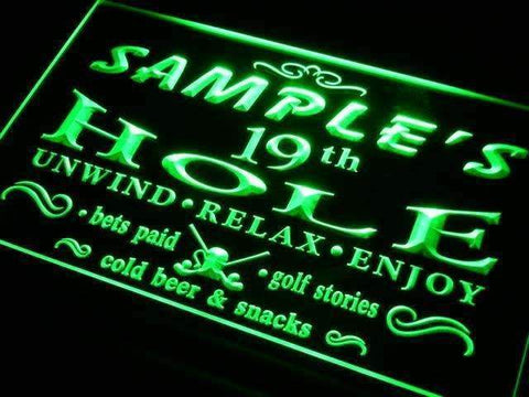 Personalized Golf 19th Hole Bar LED Neon Light Sign